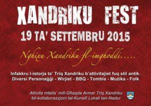 Xandriku Fest 2015 Poster
