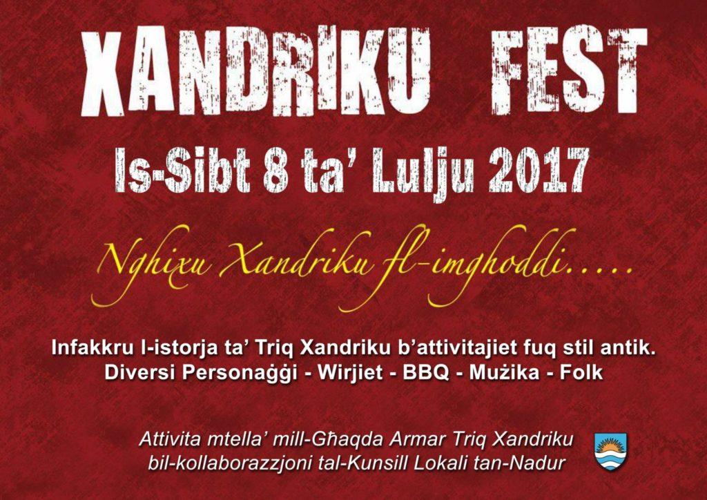 Xandriku Fest 2017 Poster (1)